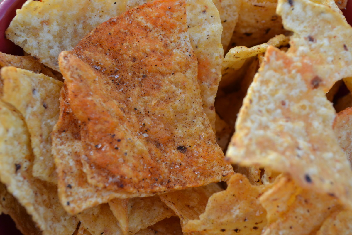 Just look at the yummy seasonings on these chips! Some chips are more heavily seasoned than others. Personally I prefer the more lightly seasoned ones, which works out perfectly, because my kids prefer the super salty ones.
