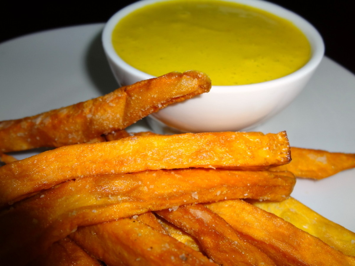Sweet Potato Fries & Peruvian Aji Sauce