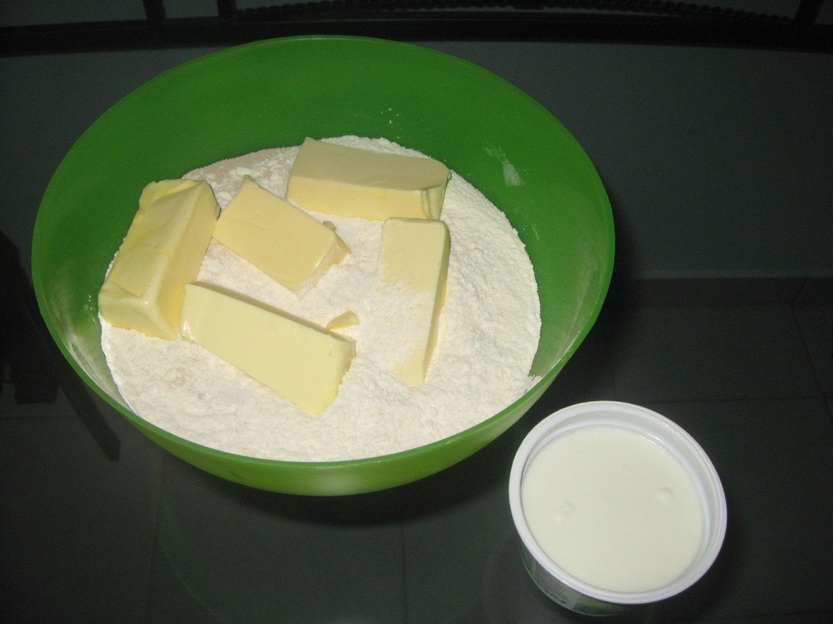 ingredients for the Hungarian cake