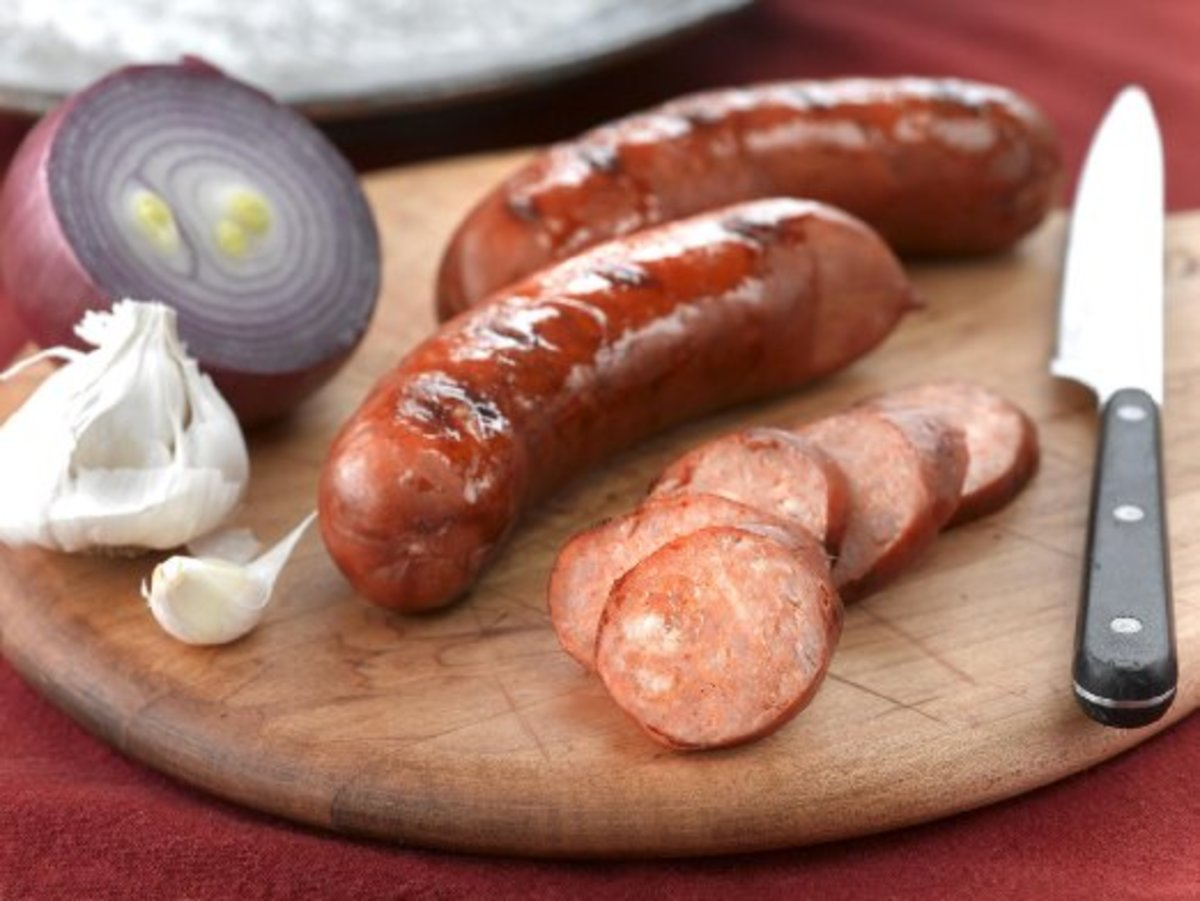 Portuguese sausage, if you can find it, really makes the taste of this soup.