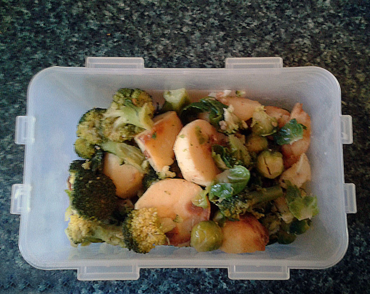 Bubble and squeak vegetables
