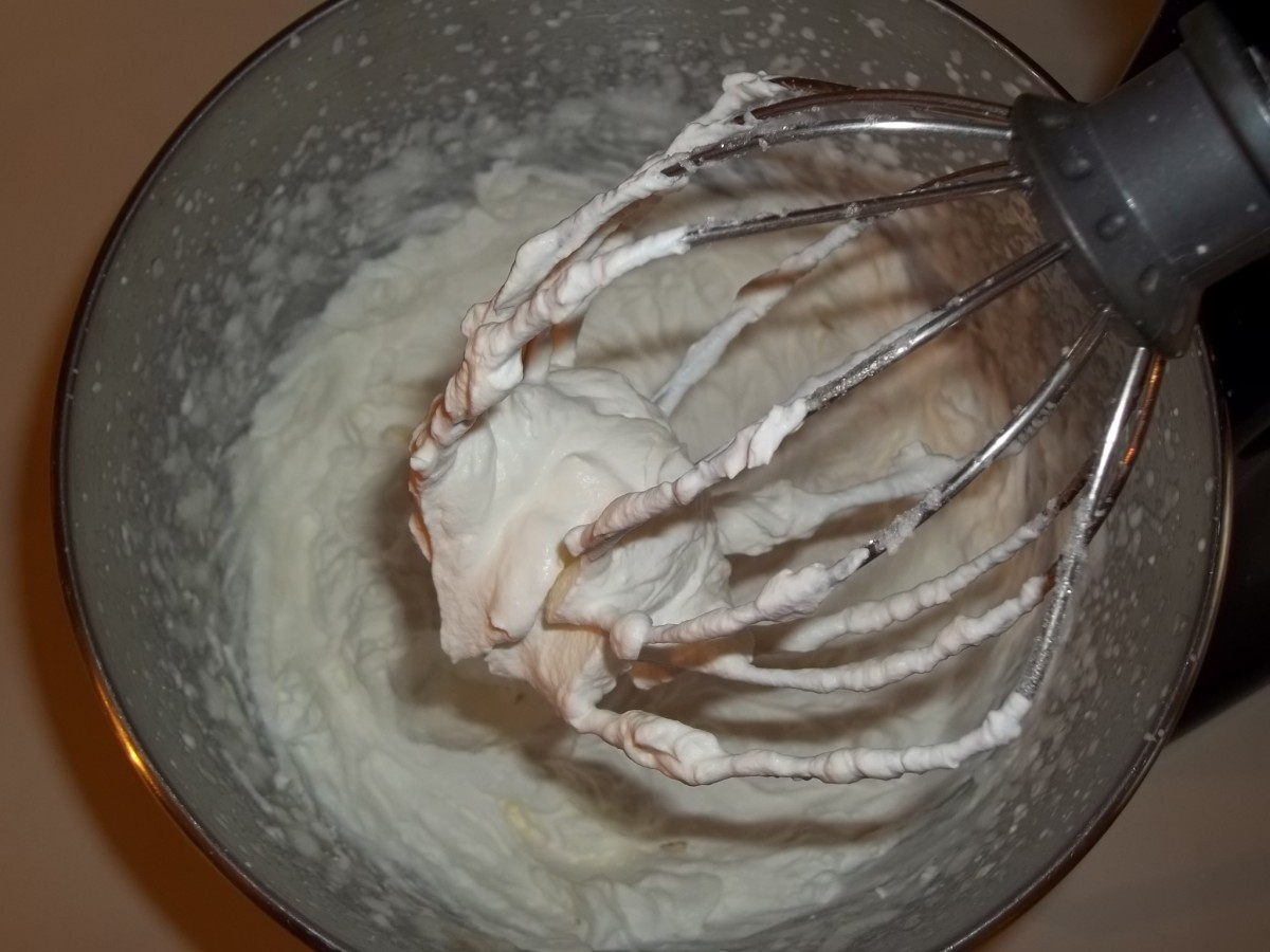 Step 4 - Perfect whipped cream ready to use.