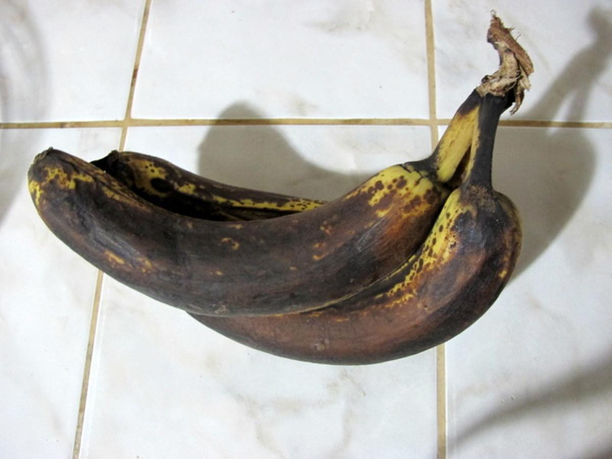 Ugly bananas make moist banana bread