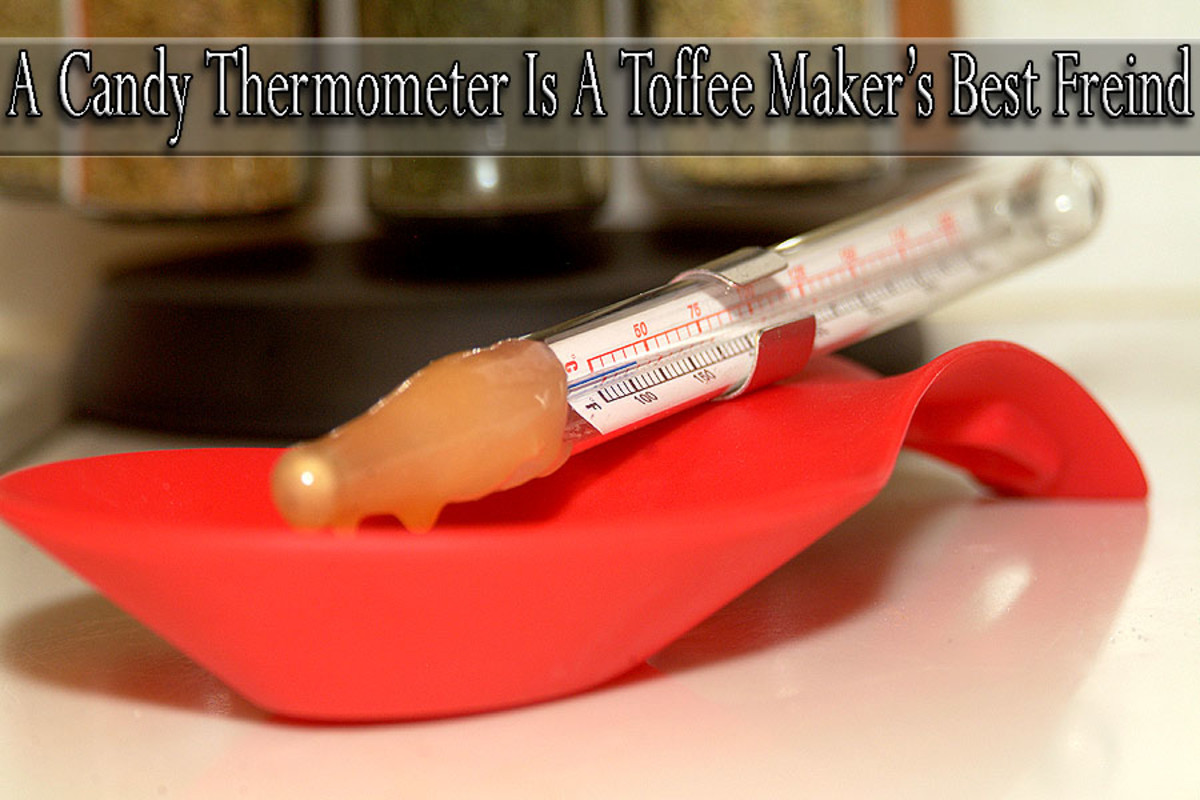 A good candy thermometer is a must when making great toffee!