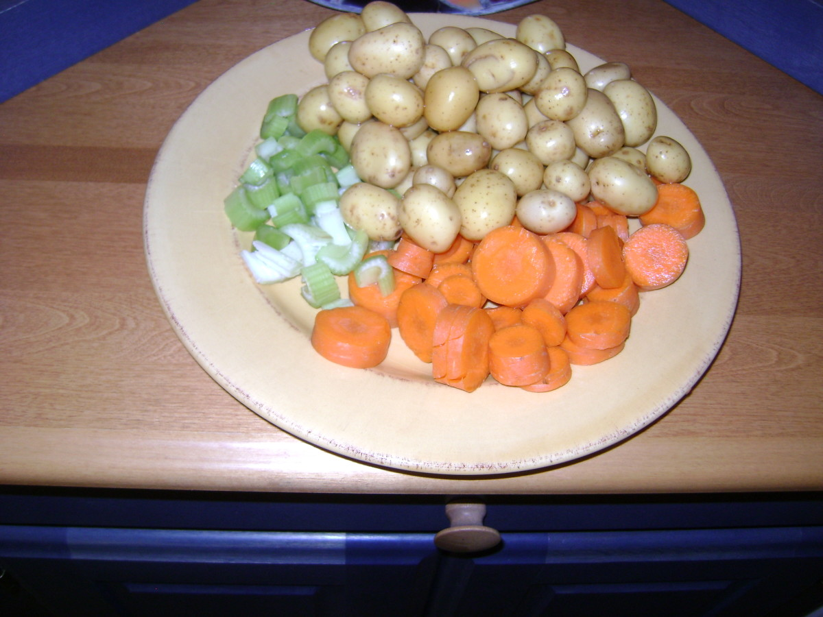 Adding fresh carrots, baby potatoes and celery enhances the flavor of soup as well as boosting vitamins and minerals.