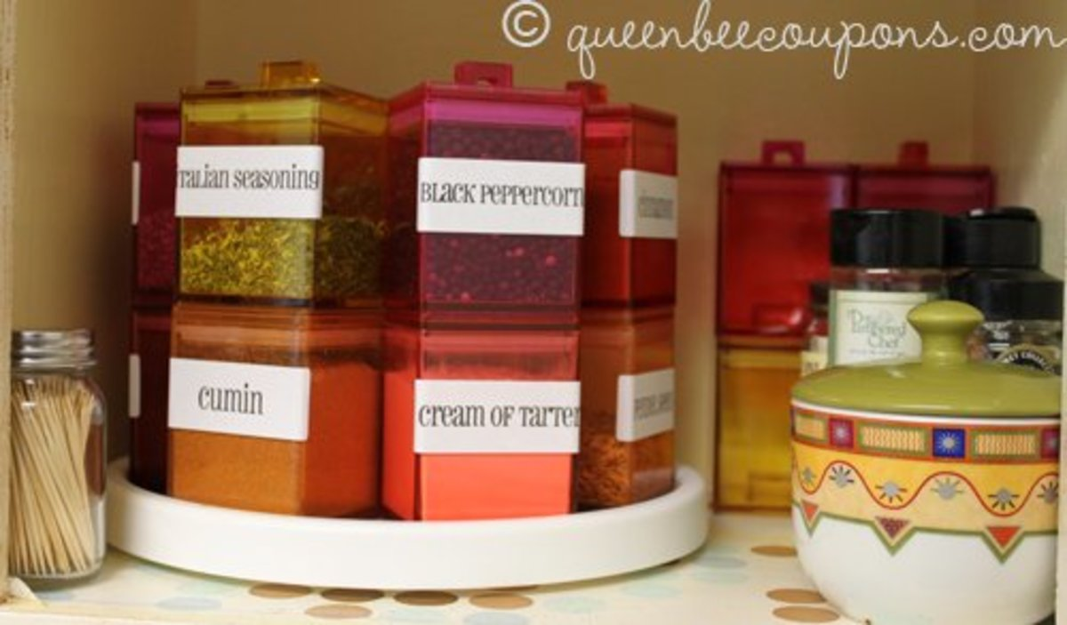 Square spice jars from Amazon