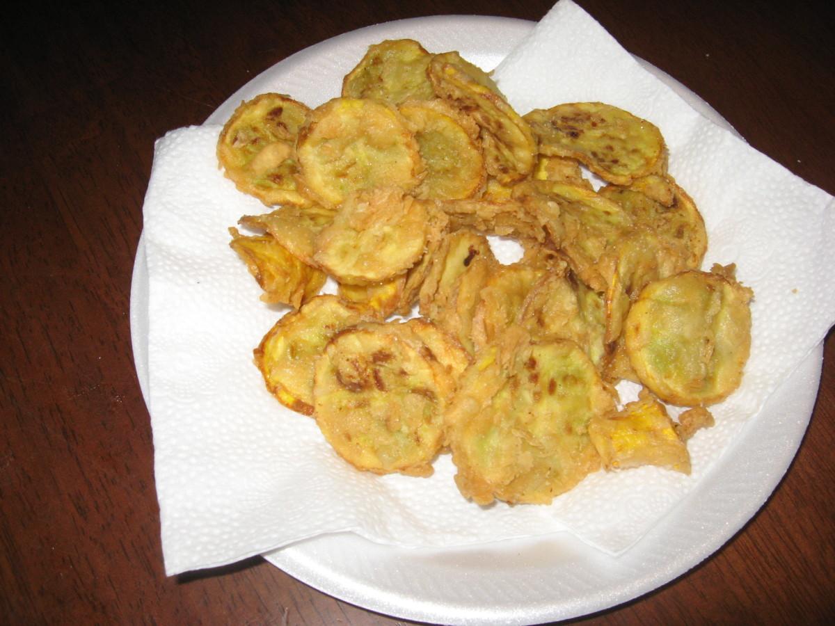 Low-carb fried squash.
