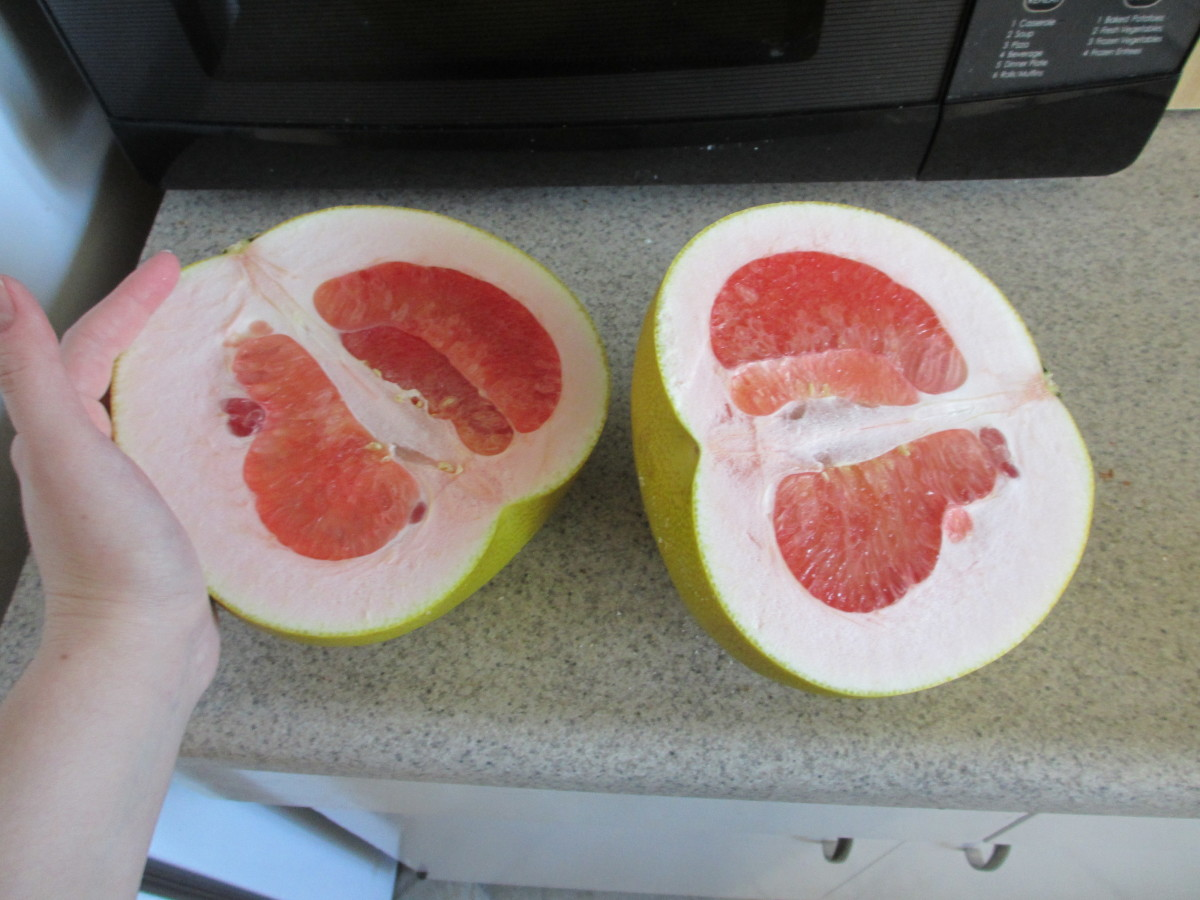 The center of a pomelo.