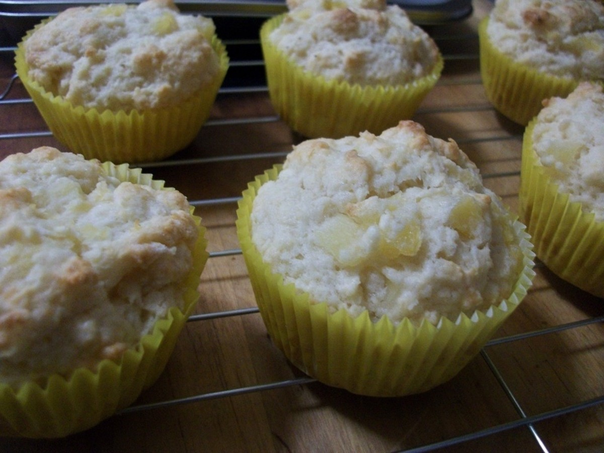 My Pina Colada Muffins Cooling on a Wire Rack