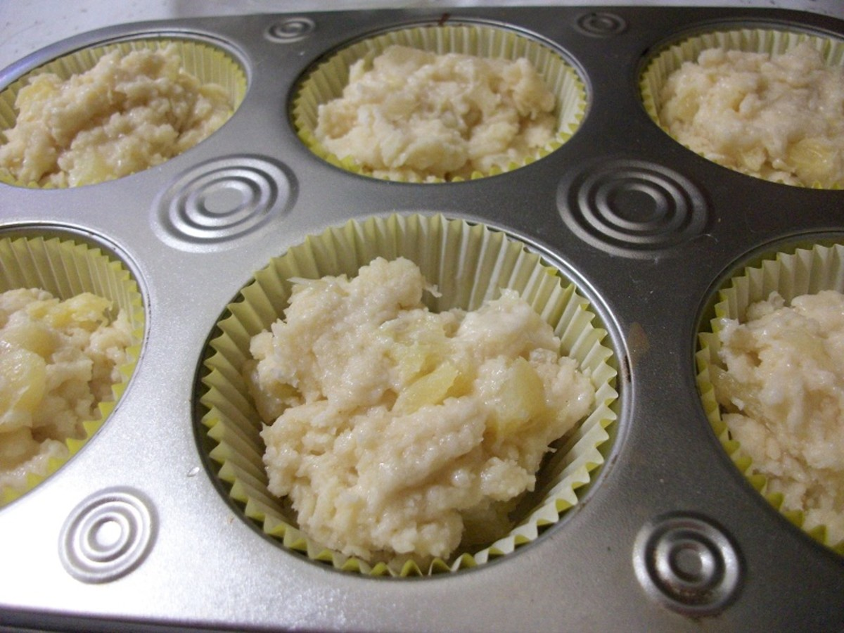 Batter in Muffin Tins - Ready to Be Baked