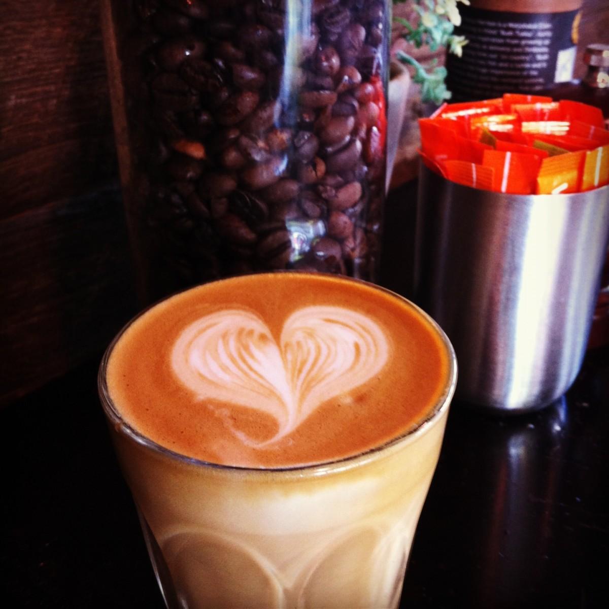 Latte Art Coffee Heart