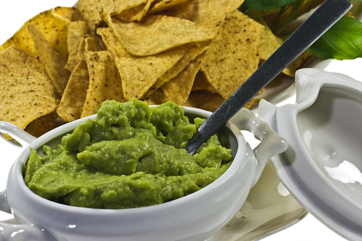 Mashed avocado dip