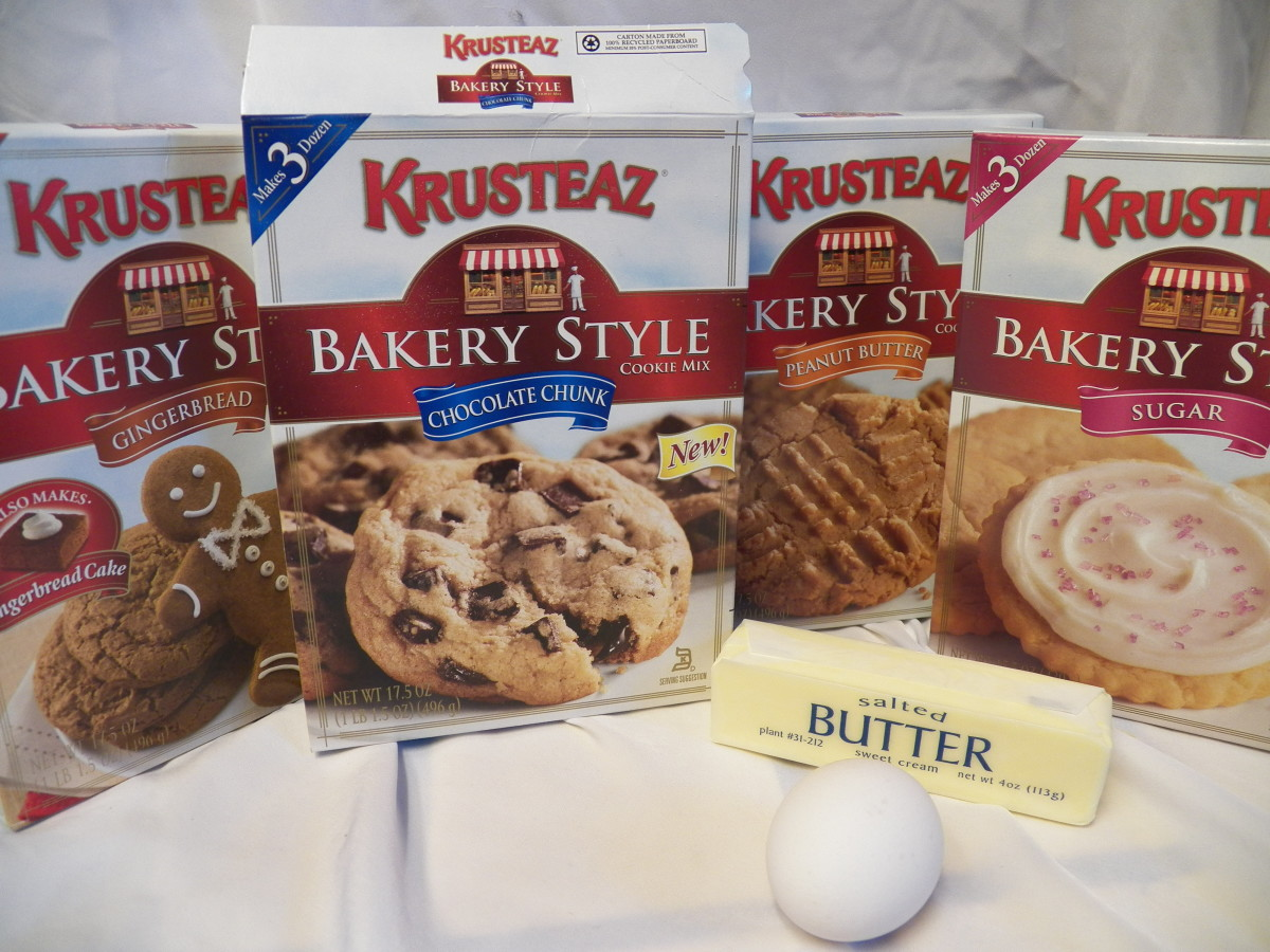 Variety of Krusteaz mixes.