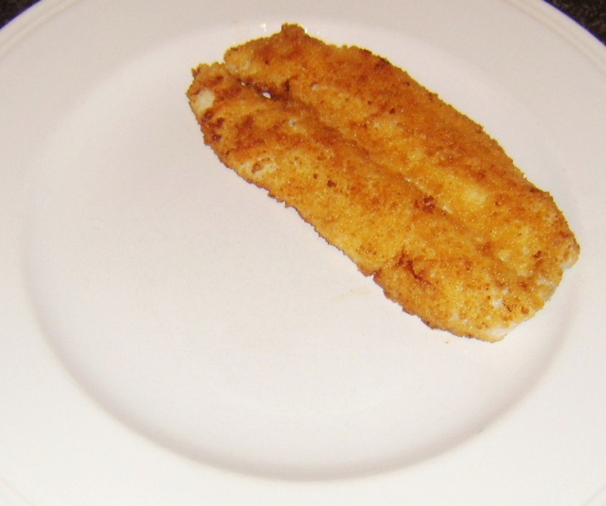 Breaded haddock fillet