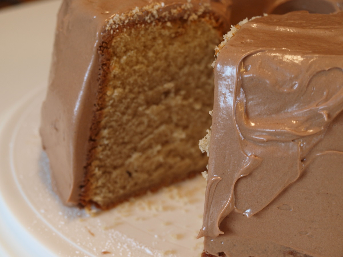 Peanut Butter Pound Cake with Chocolate Peanut Butter Frosting