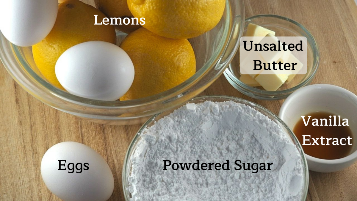 Lemon curd filling ingredients