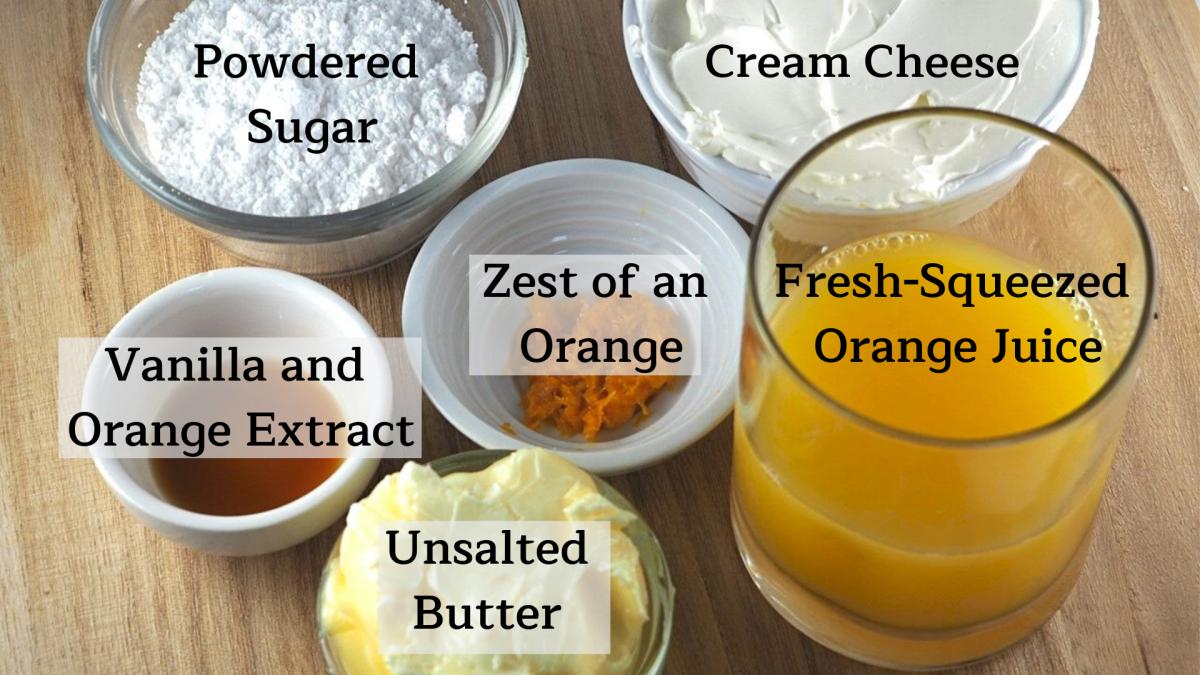 Macaron orange cream filling ingredients