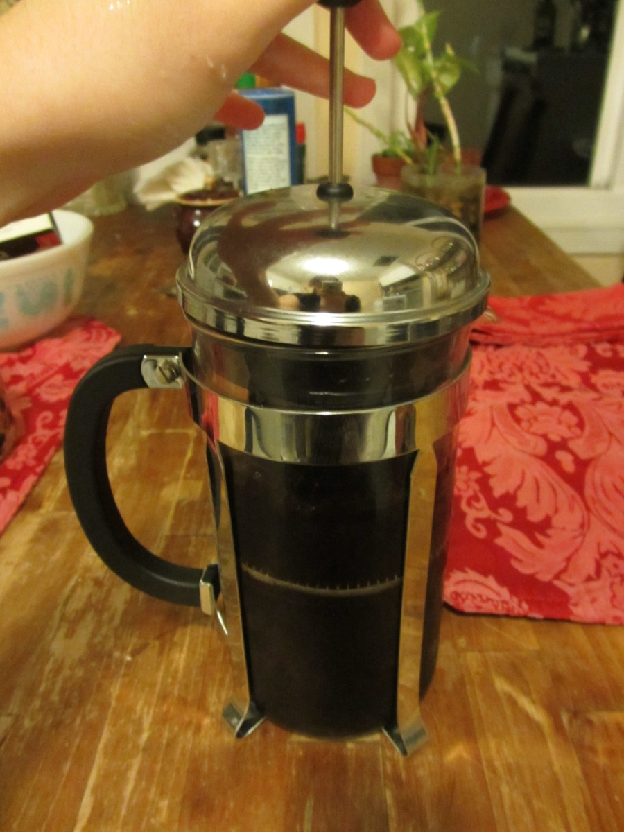 Use a French press to completely remove the grounds.