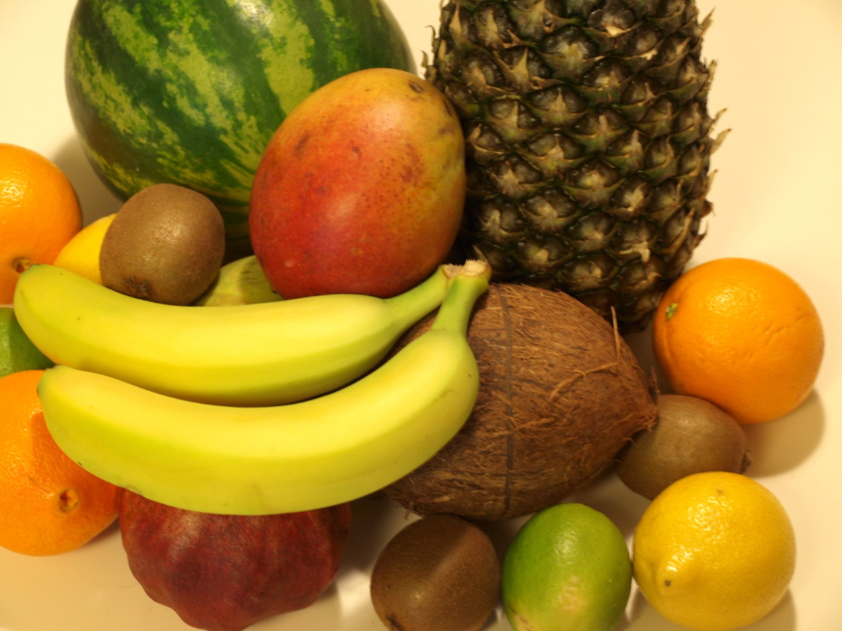 Various tropical fruits
