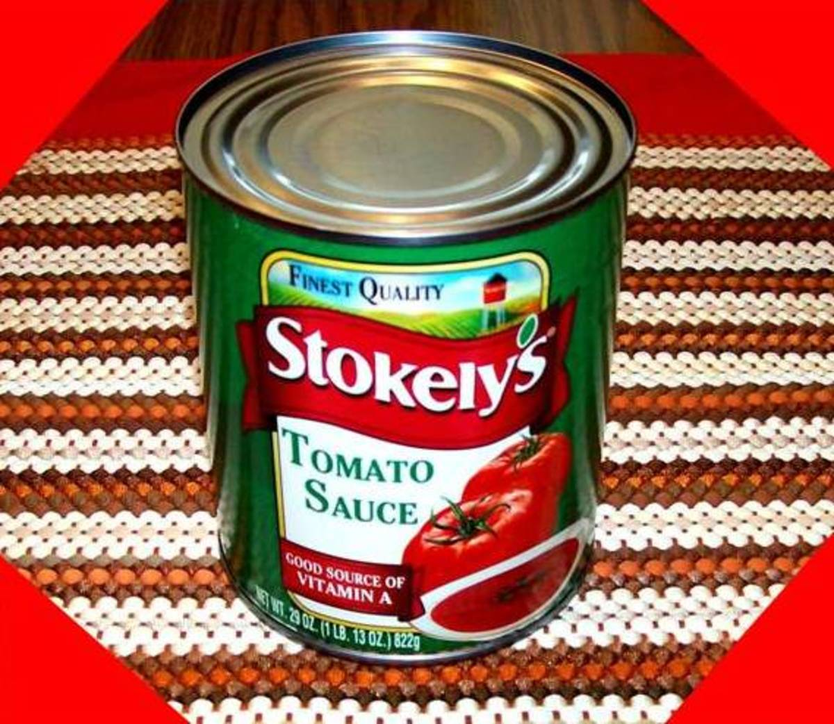 Add a 29-ounce can of tomato sauce.