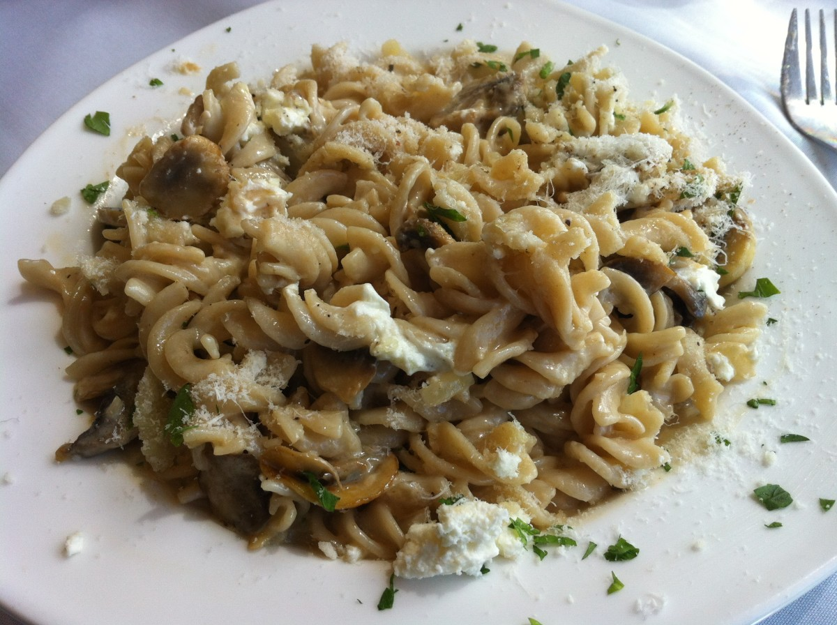 Pasta dishes are often very high in fat, carbohydrates and calories—choose wisely!