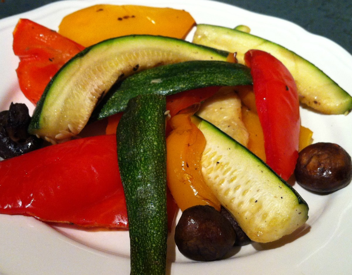Substitute roasted or grilled vegetables for pasta or potatoes with your entrée for added nutrition and fewer calories.