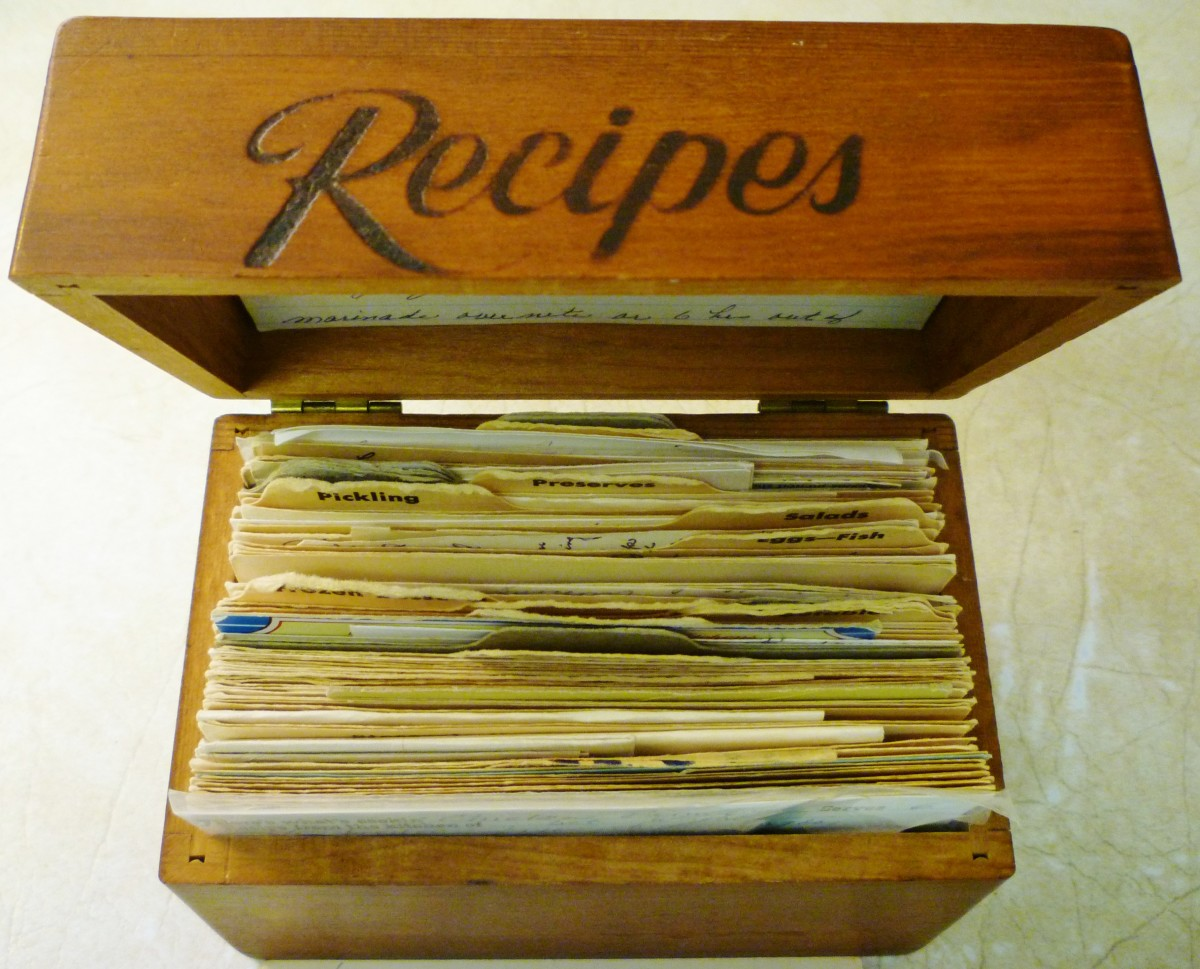 My Mother's Old Wooden Recipe Box