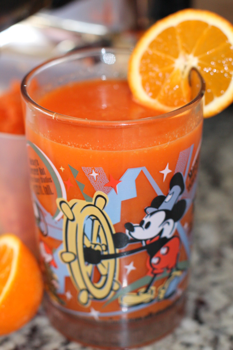 Kids will love the sweetness of carrot juice!