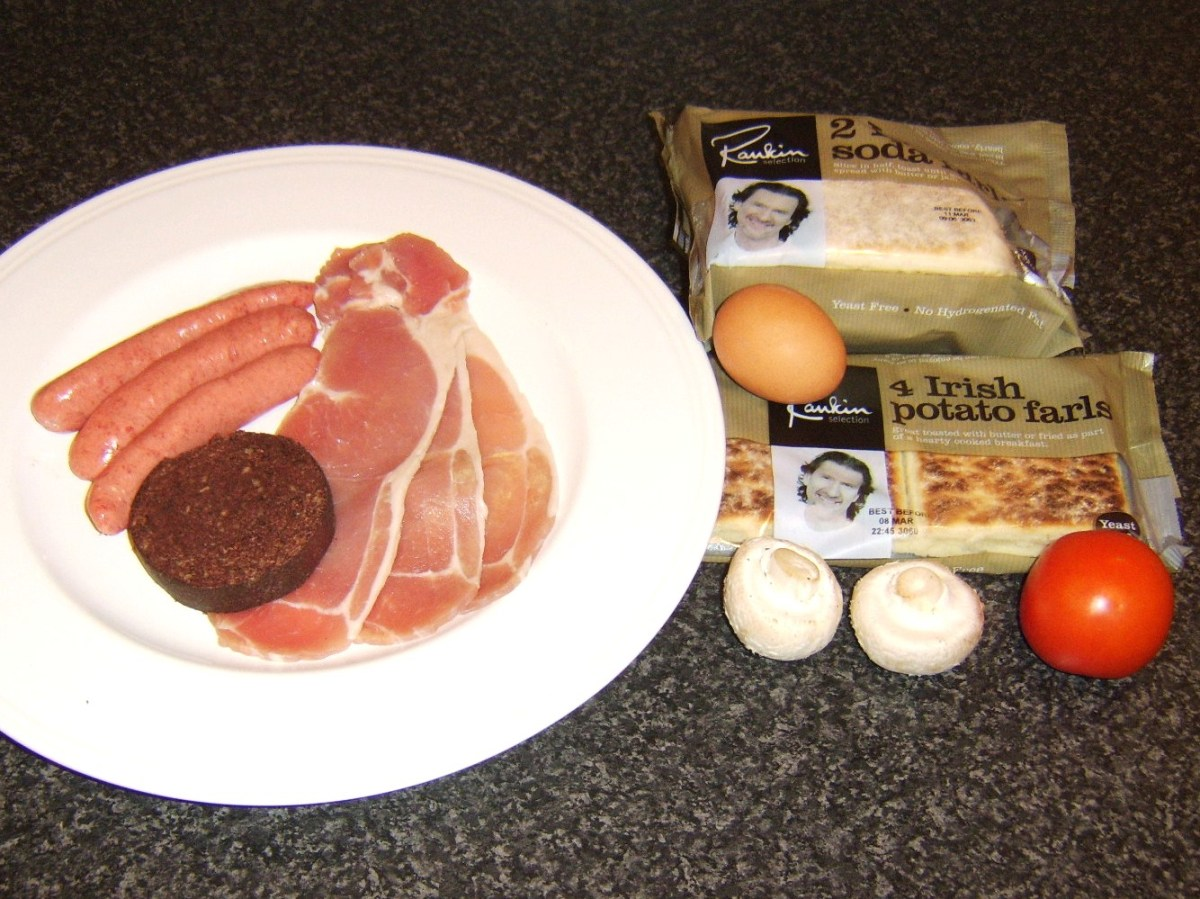 Principal ingredients of this Ulster fry recipe