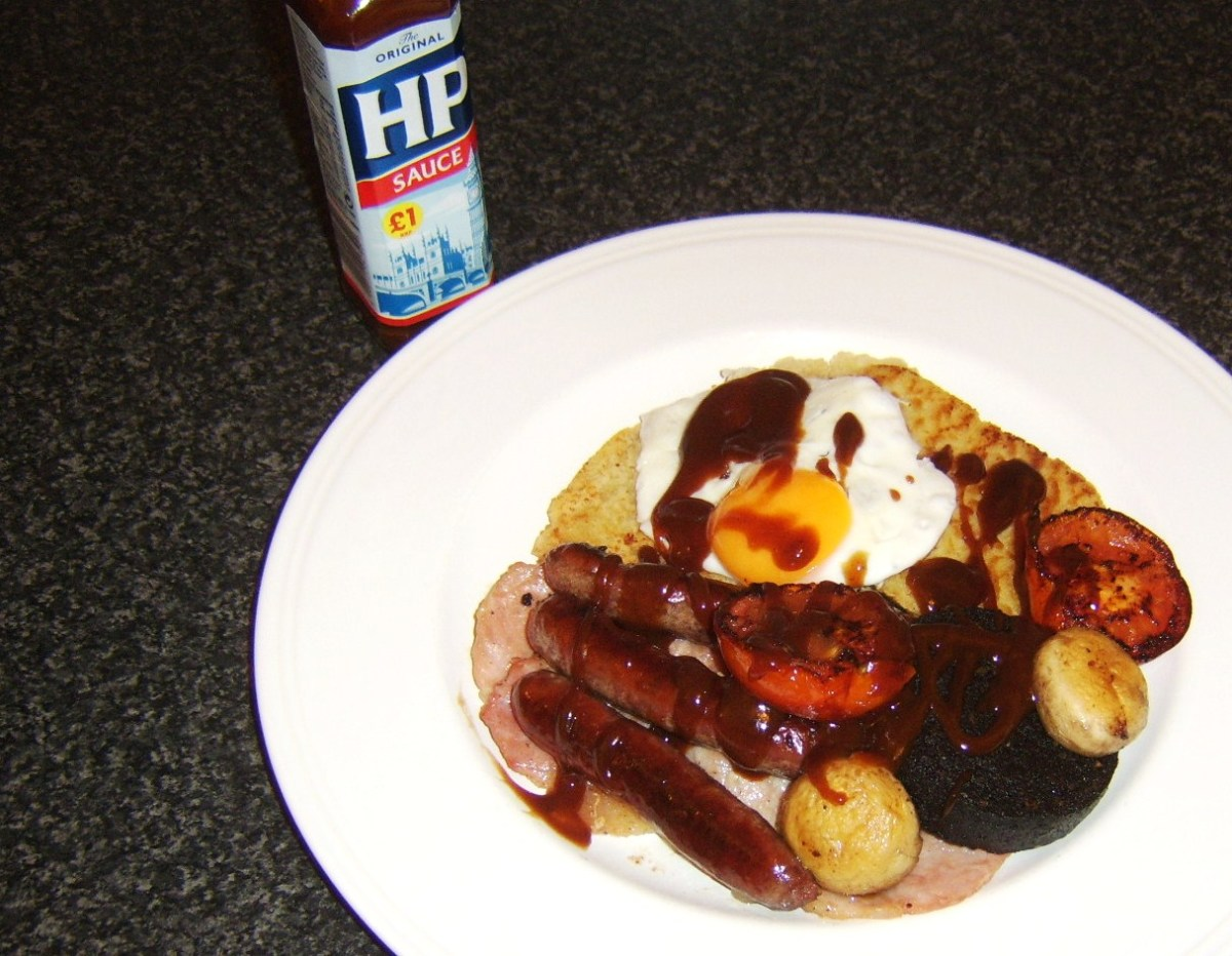 Hp sauce is an optional addition to an Ulster fry