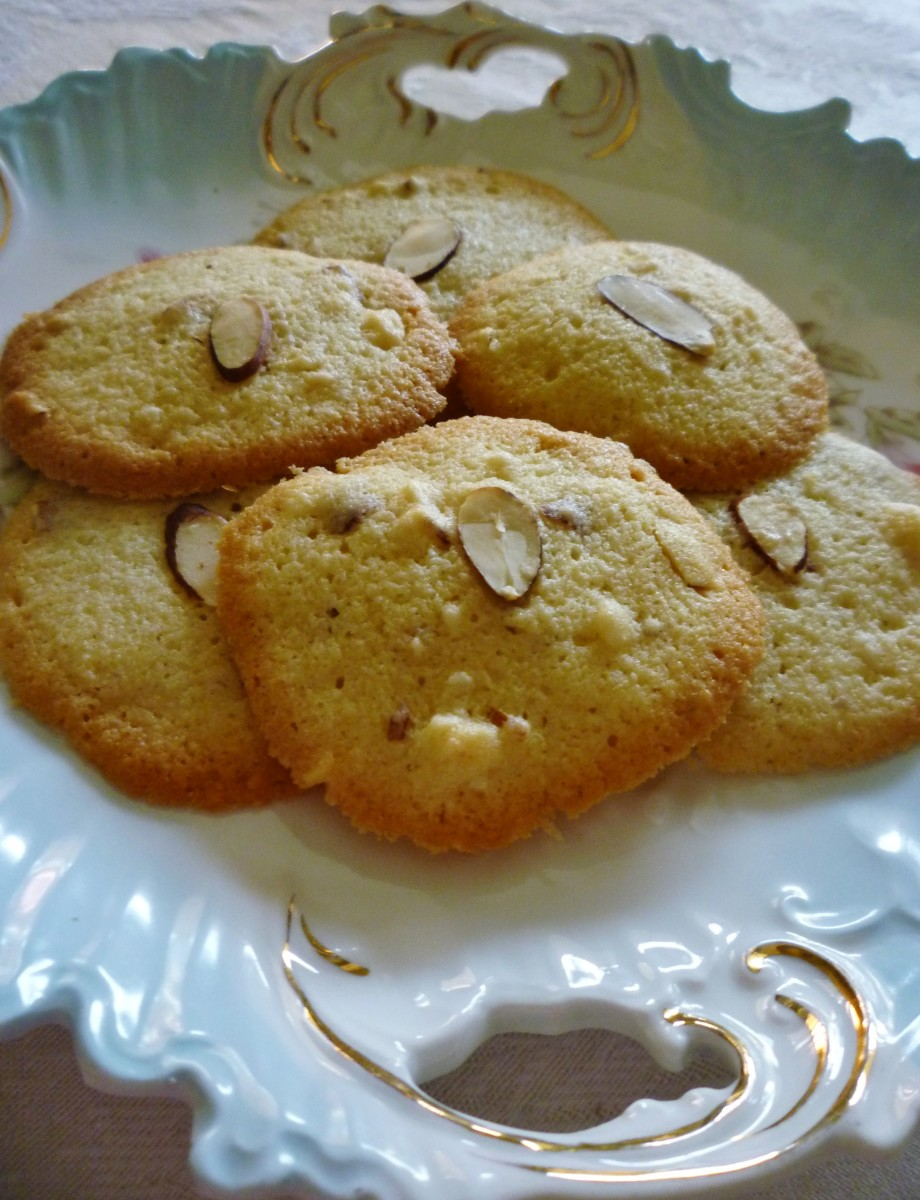 Dish of Almond Paste Cookies