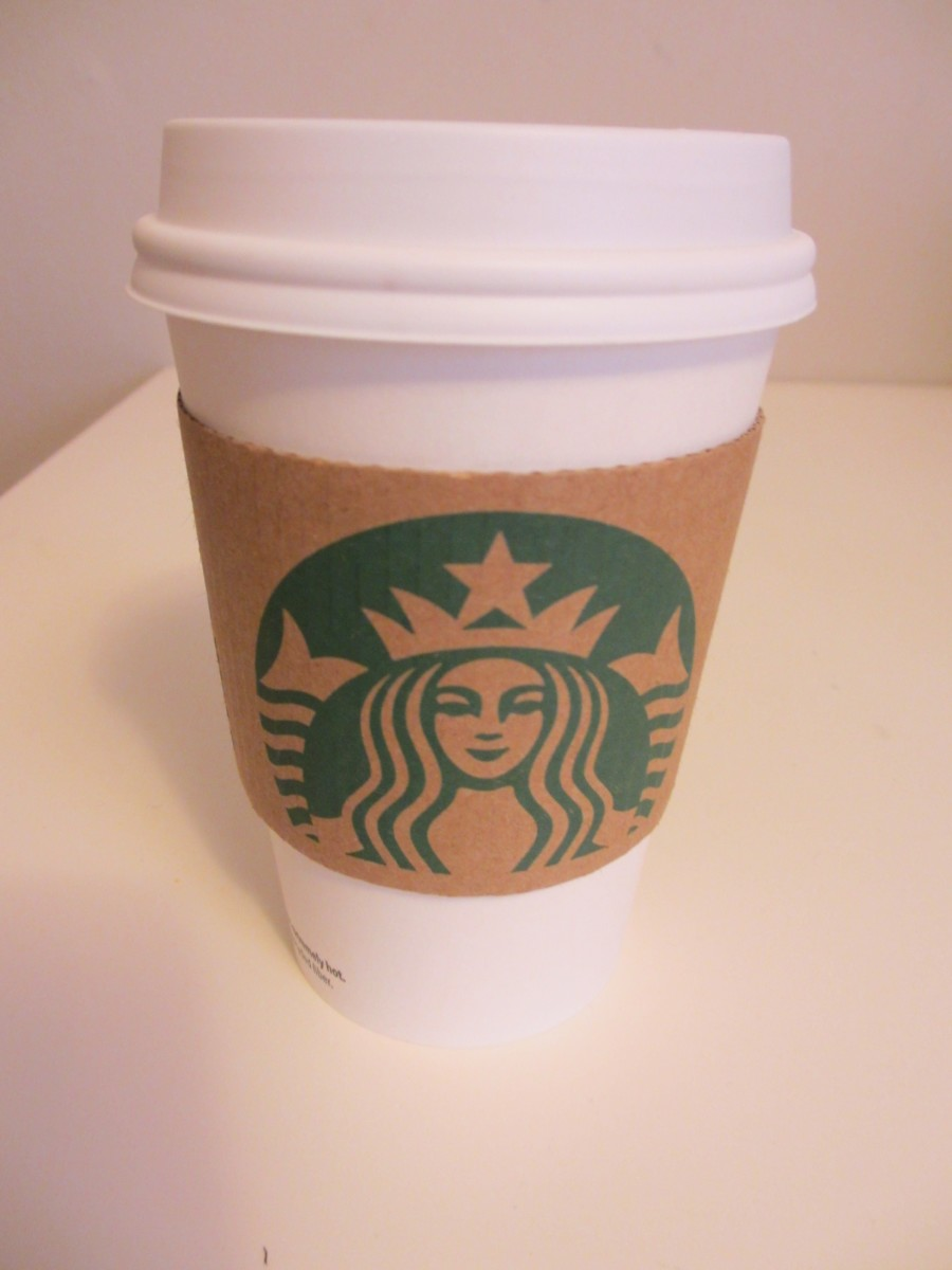 "A small (aka ""tall"") coffee from Starbucks Coffee."