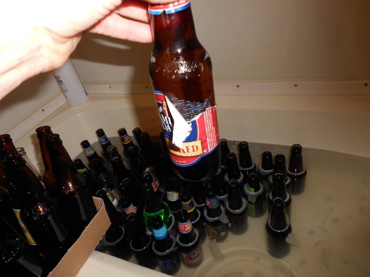 how to remove beer bottle labels