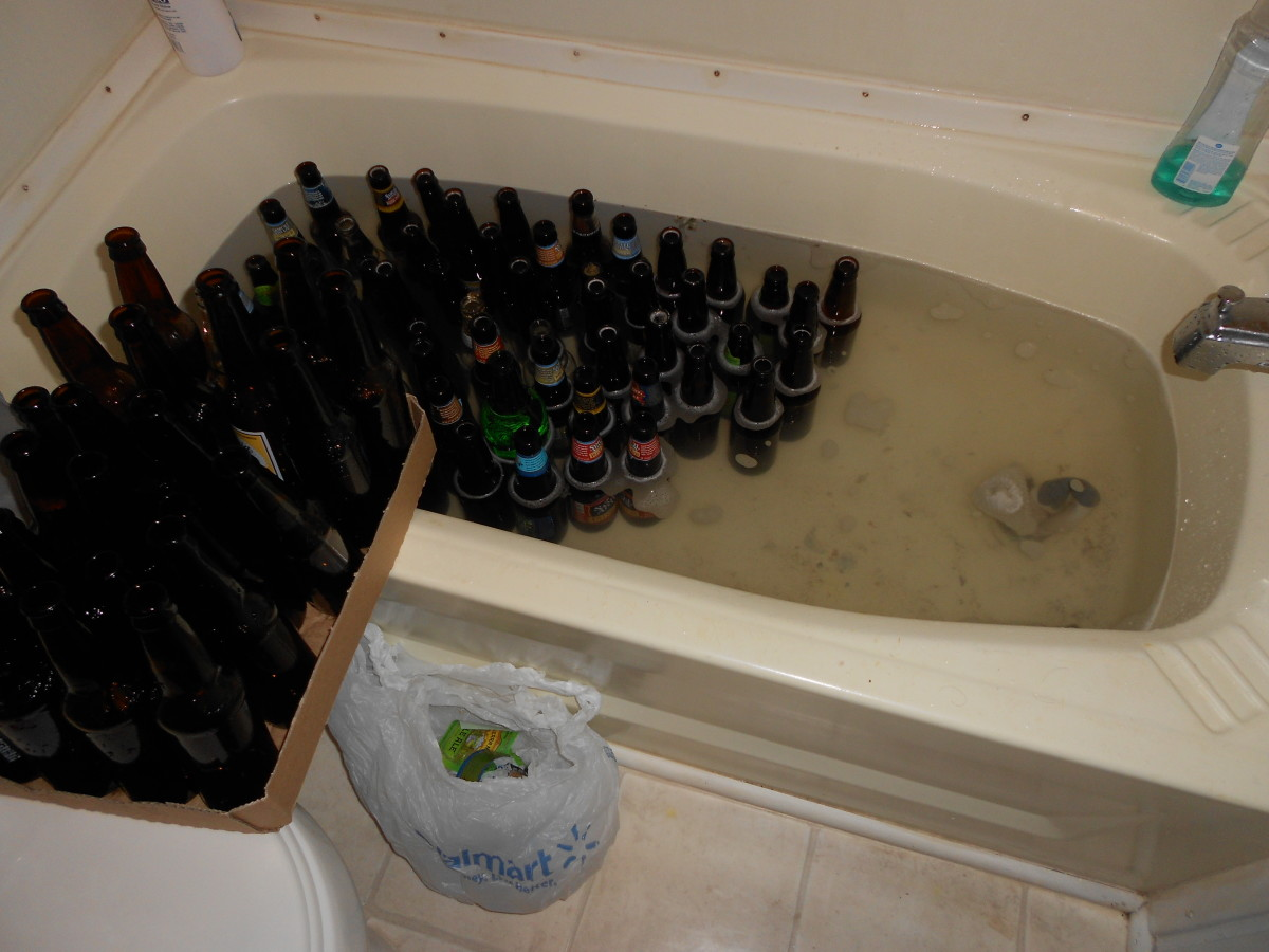 soaking to reuse beer bottles and remove labels