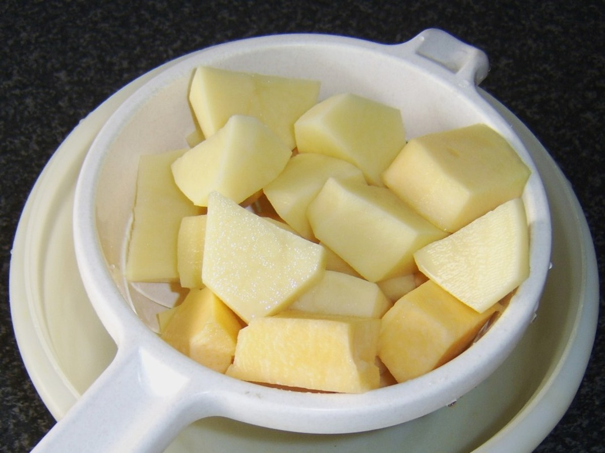 Potatoes and Swede peeled and chopped