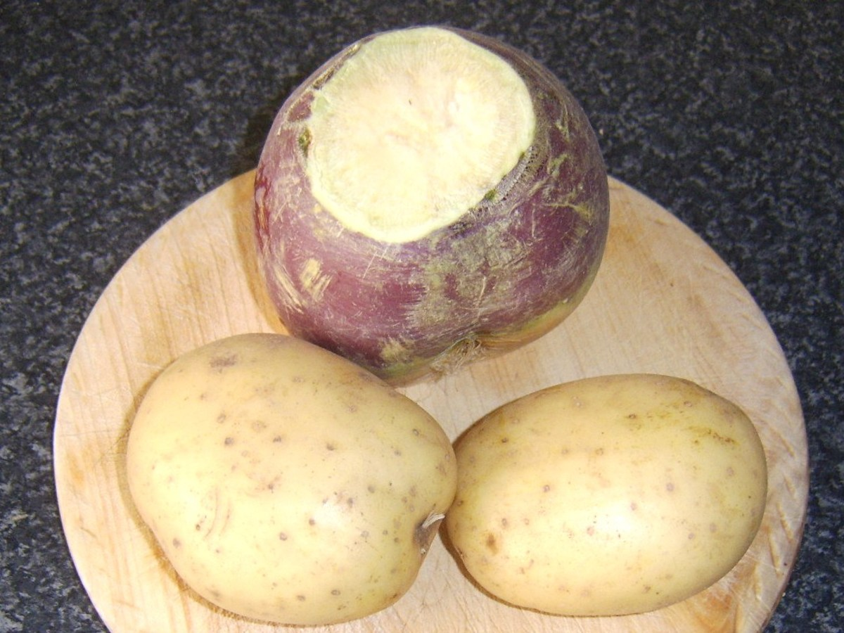 Potatoes and Swede turnip/rutabaga