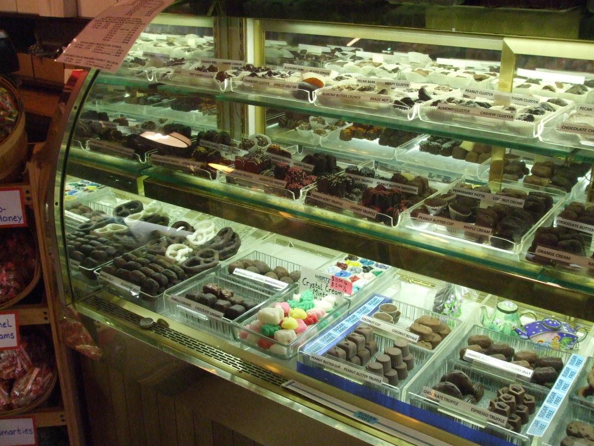 The classic candy store case full of treats.