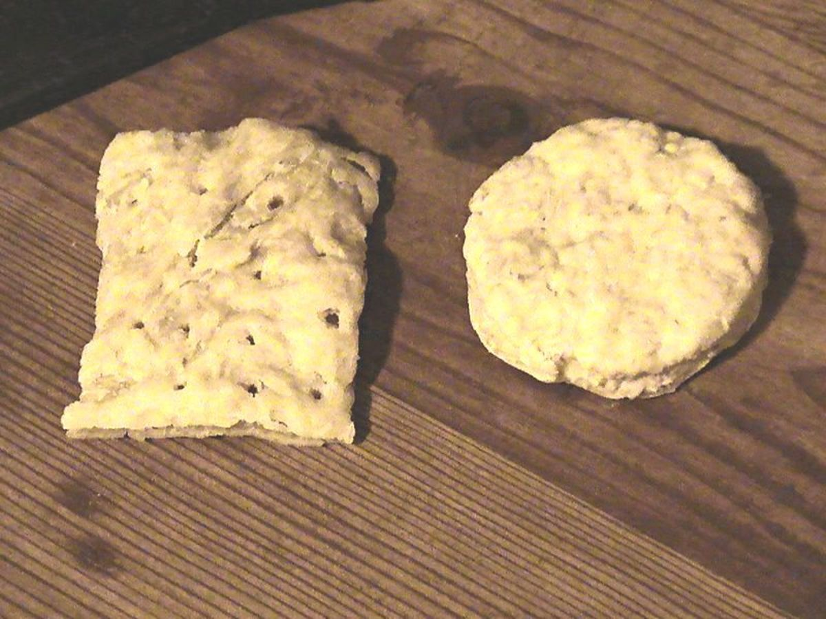 Photo: hardtack biscuits provided nourishment to sailors when food was scarce.