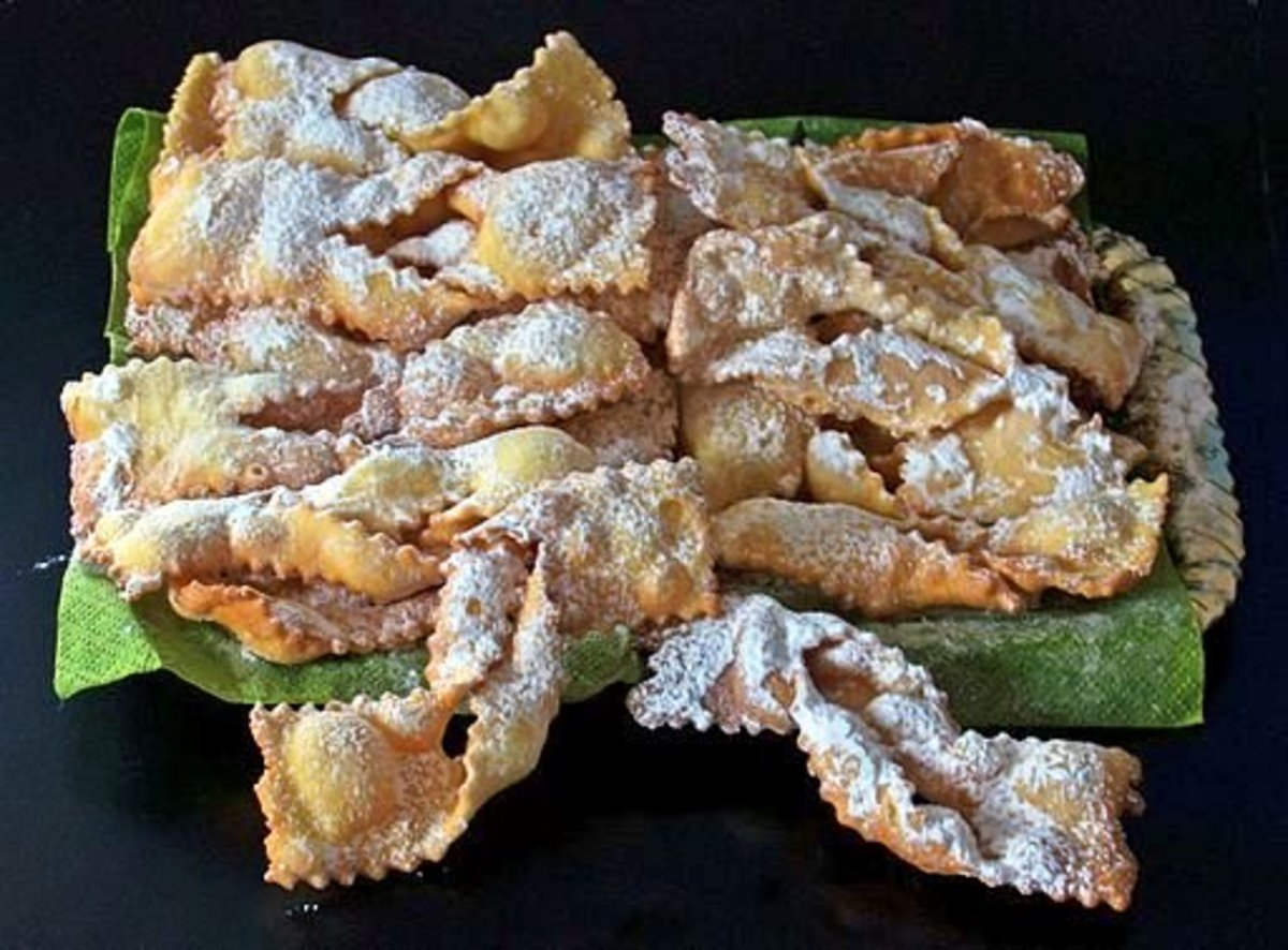 CROSTOLI is crispy and tasty with its sweet topping.