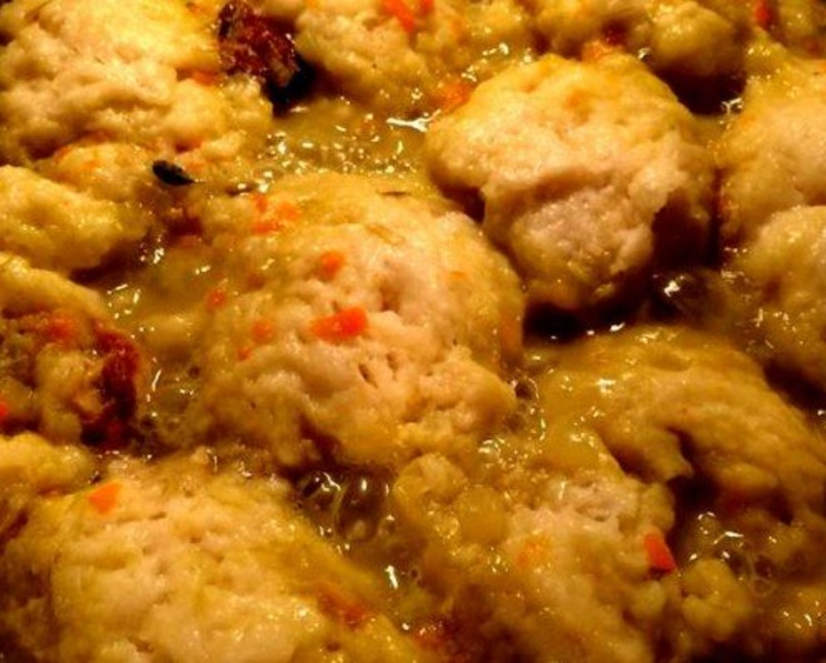 DUMPLINGS complete a meal and with their wholesome flavor, are wonderful served with soup or stew.