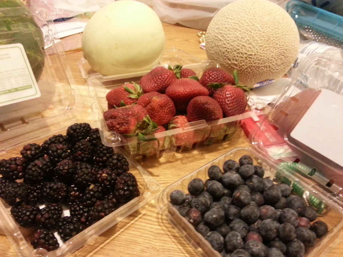 Some of the fruits I included.