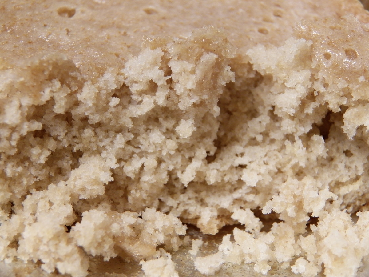 This close-up shows that it does have a nice cake crumb texture.