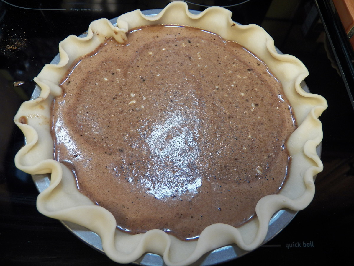 Put pie in preheated 350 degree oven.  Bake 45 minutes.