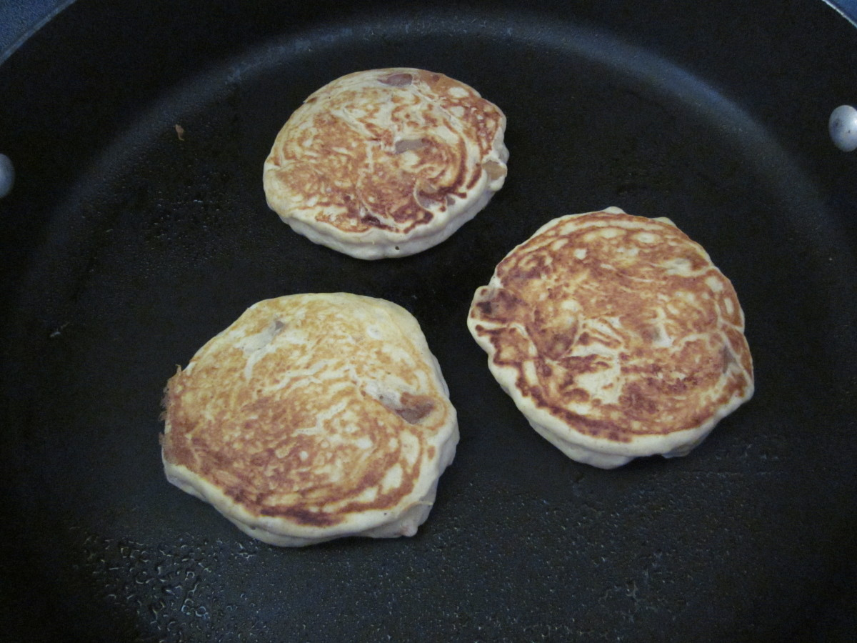 Step 6.2: how the pancakes should look when they are flipped