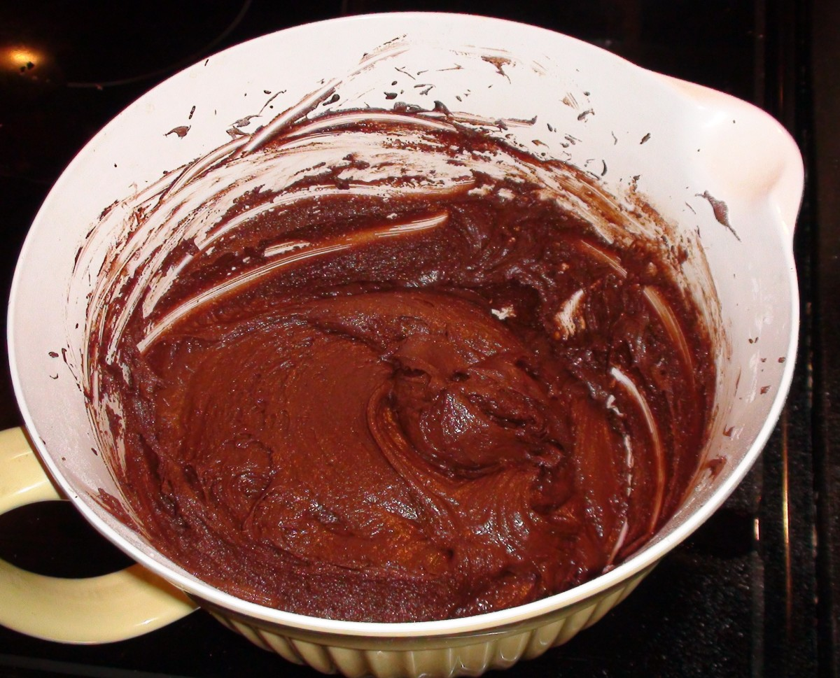 The finished dough is more like brownie batter than cookie dough. Once it cools in the fridge it will thicken and harden.