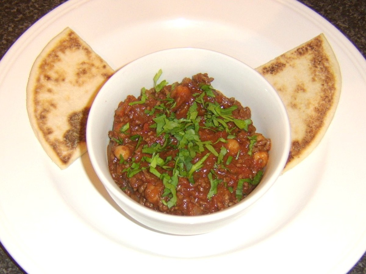 Mild and easy curried mince is served with Scottish tattie scones rather than any more expected Indian flatbread