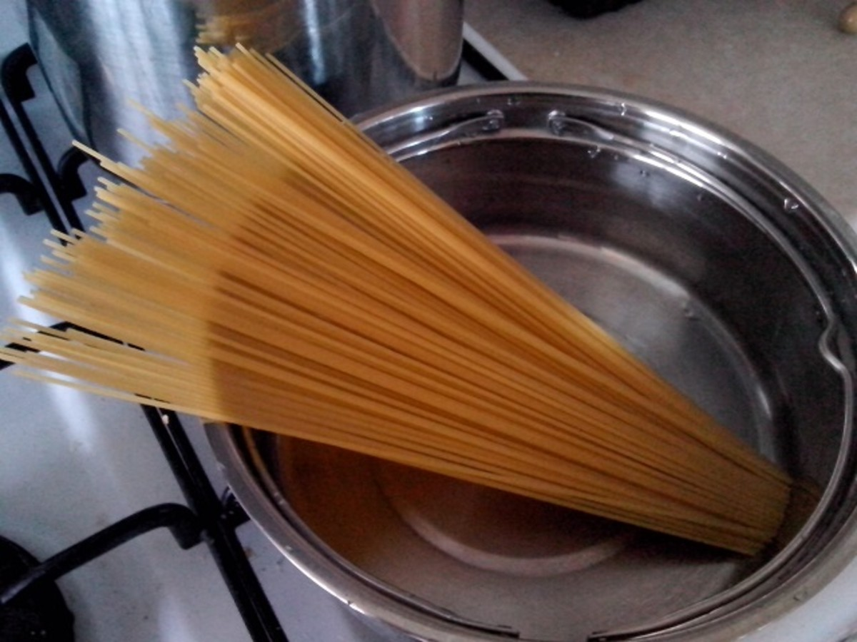 Boil the pasta separately.