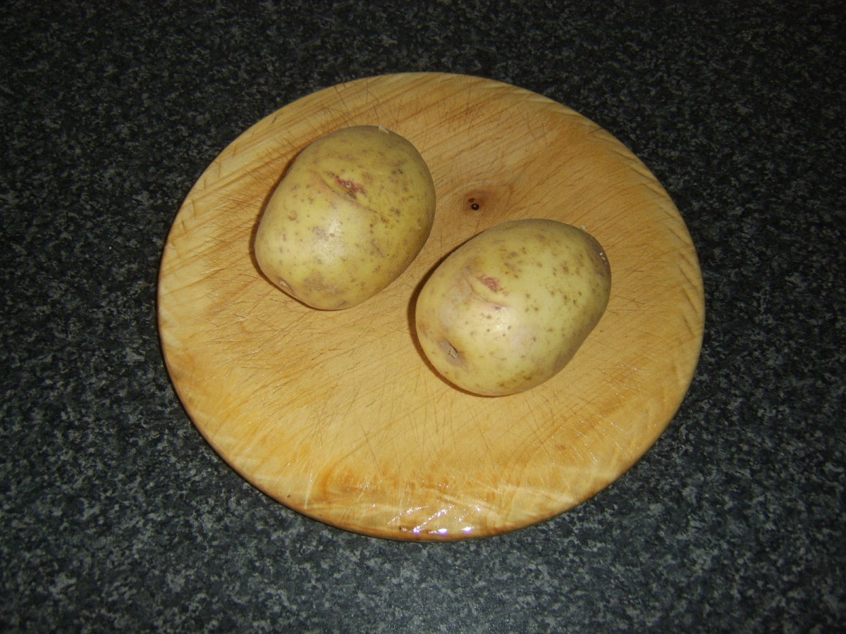 Medium sized baking potatoes