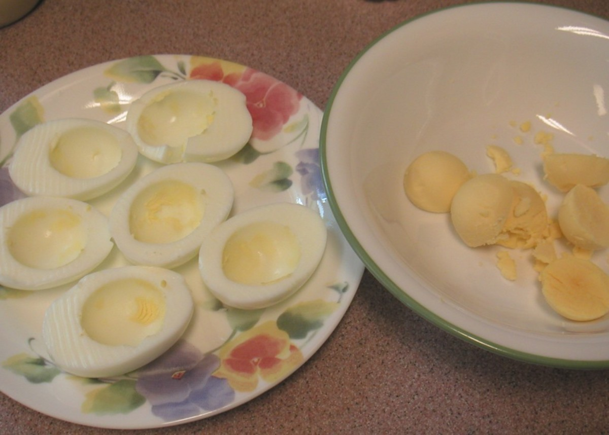 Separate the yolks from the egg whites carefully.