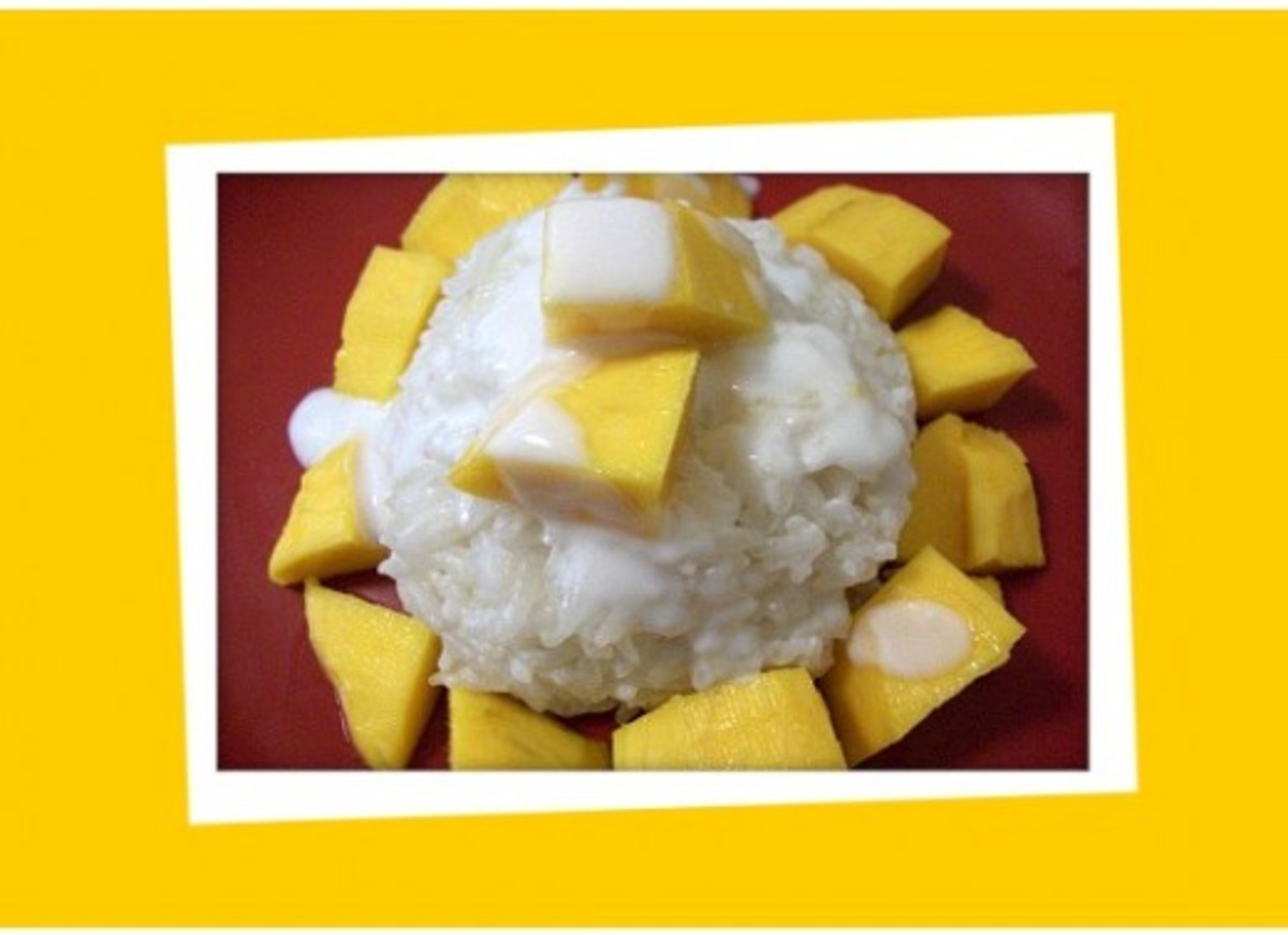 Sticky Rice with Mango - Khao Neow Mamuang